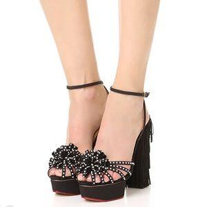🆕Charlotte Olympia Miss Cha Cha Cha Black Sandals